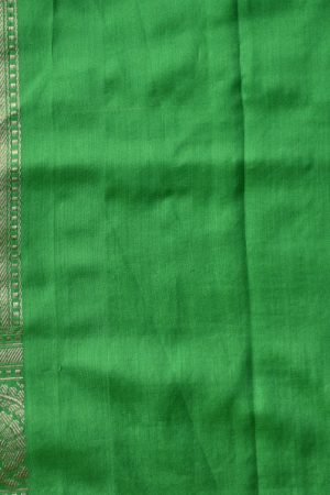 Lemon green benarasi handloom silk saree blouse