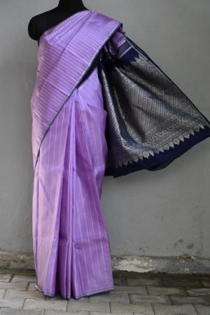 Purple vanki design kanchi silk saree 1