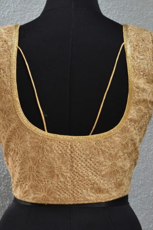 gold embroidered blouse