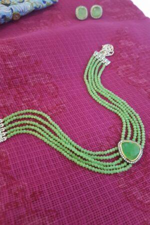 Apple green choker set