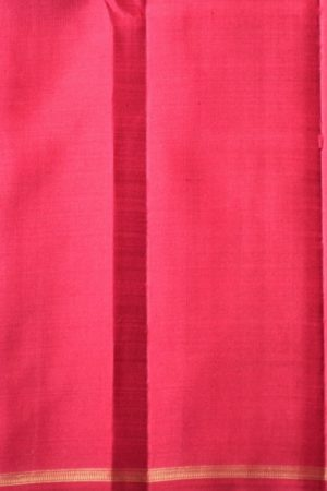 Black maroon thread checks kanchi silk saree 1