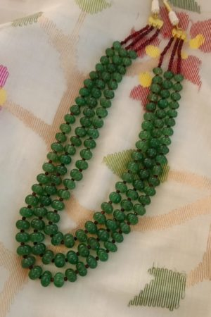 Emerald green watermelon bead layer small
