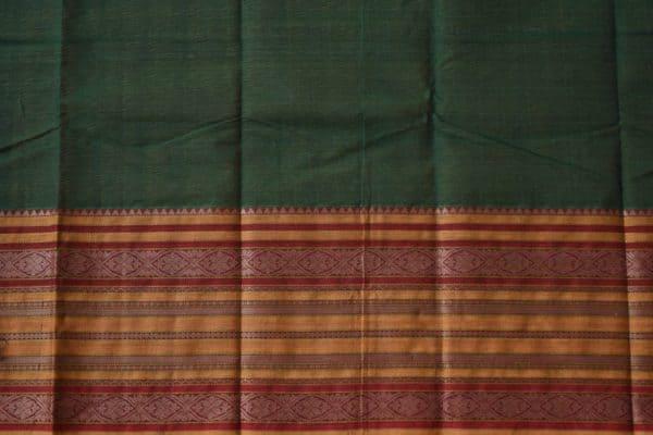 Green long border kanchi cotton saree 2