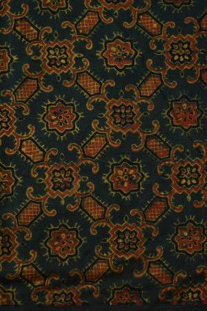 Green maroon ajrkah cotton blouse piece