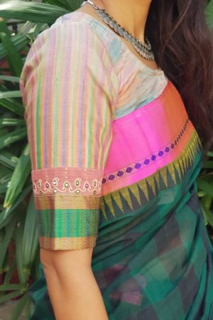 Multicolour tussar blouse 1