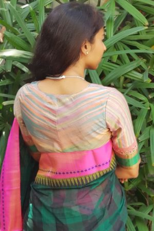 Multicolour tussar blouse