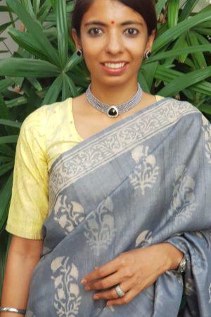 Pastel yellow chandheri blouse