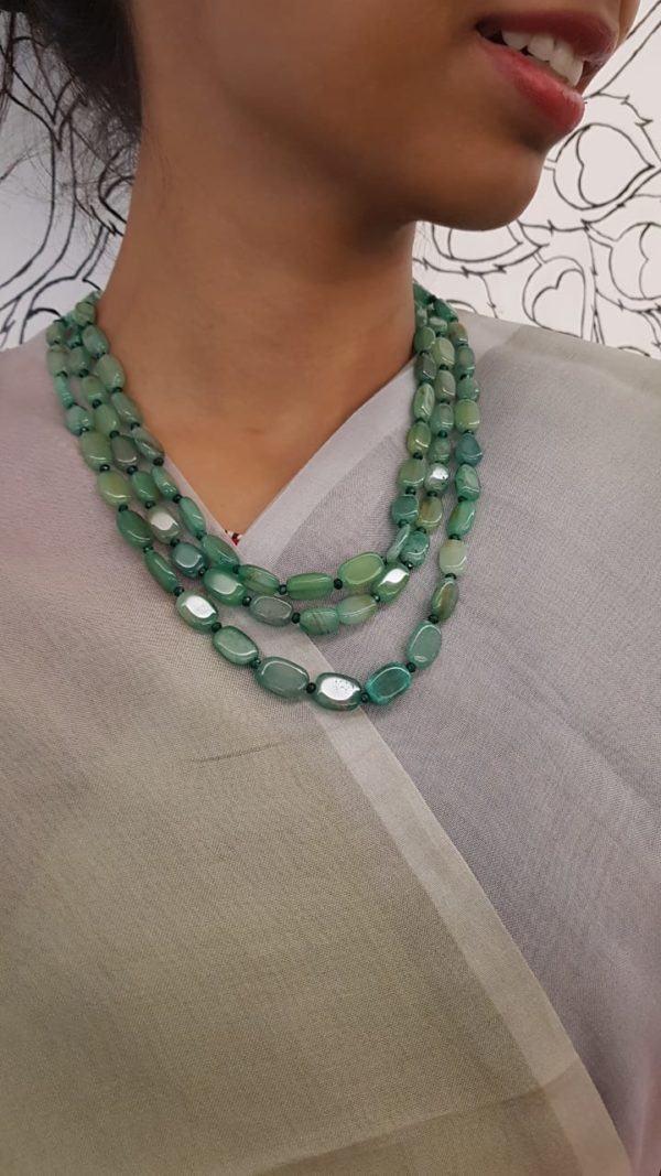 Russian green bead string 1