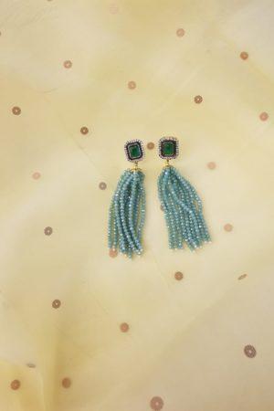 Sea green chandelier earring