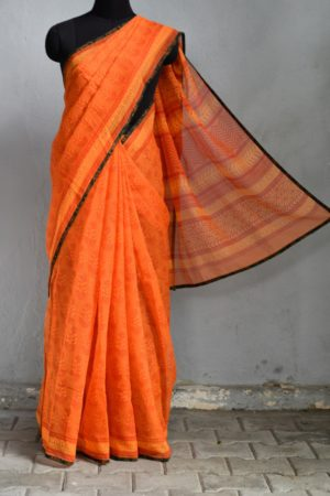 orange kota doriya saree 1