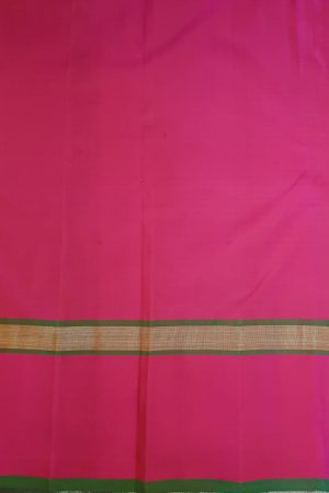 Dusty pink checks kanchipuram silk saree with pink border1