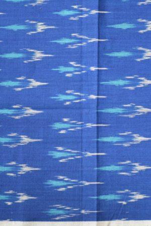 Turquoise block printed tussar saree 2