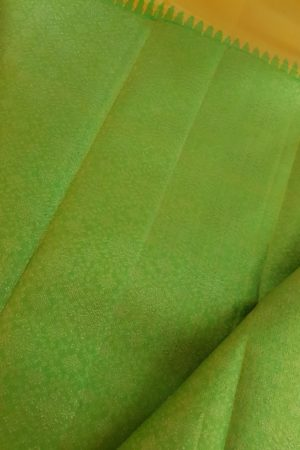 Mustard green rekhu kattam saree 1