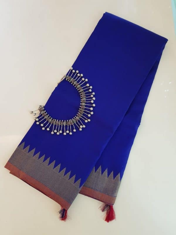 Royal blue kanchi silk dupatta 1