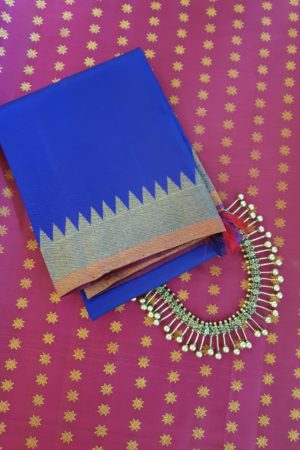 Royal blue kanchi silk dupatta 2