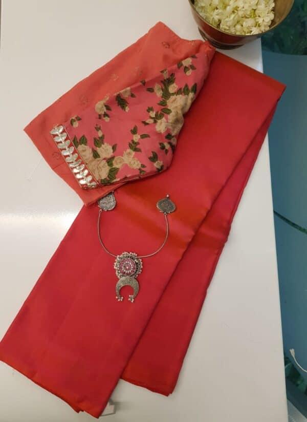 dark pink lavanyam kanchi silk saree