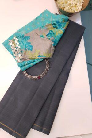 grey lavanyam kanchi silk saree