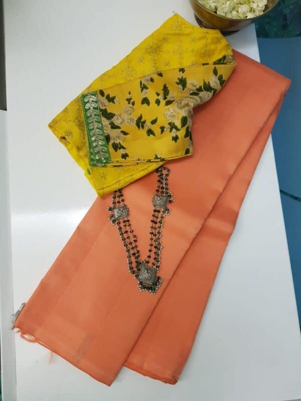 peach lavanyam silk saree