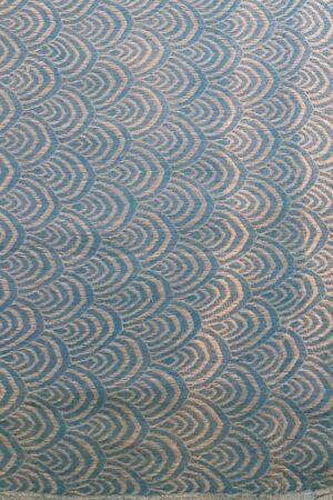 Blue wrinkle crepe saree3