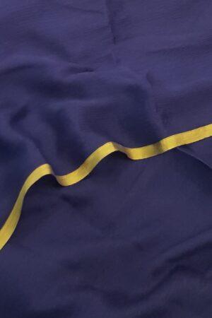 Navy blue wrinkle crepe saree2