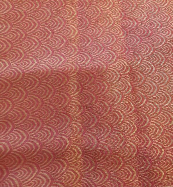Pink wrinkle crepe saree3