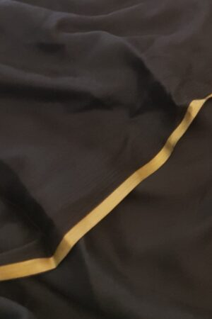 black wrinkle crepe saree1
