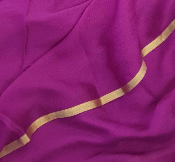 majenta wrinkle crepe saree1