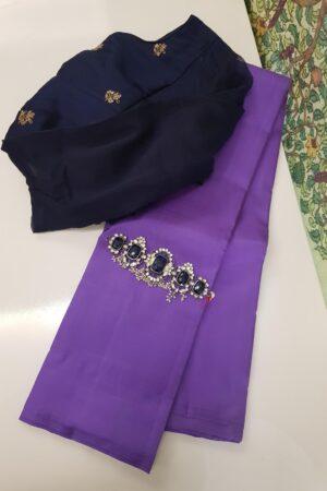 purple lavanyam kanchi silk saree
