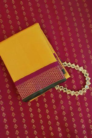 yellow korvai kanchi silk dupatta