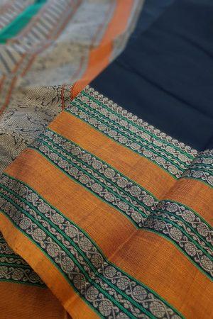 Black kanchi cotton saree1