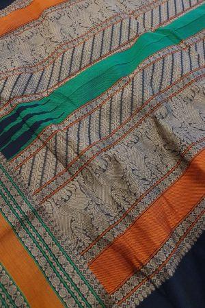 Black kanchi cotton saree2