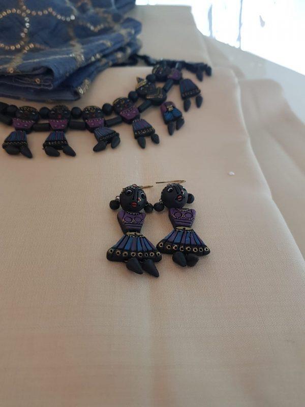 Blue and mauve terracotta set1