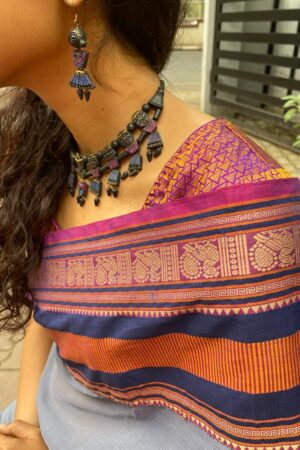 Blue and mauve terracotta set2