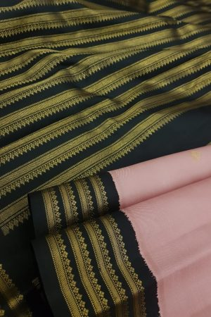 Dusty pink and black korvai border1