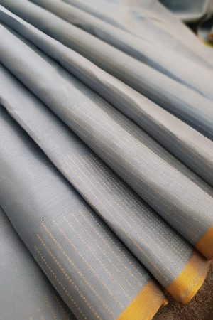 Grey rising border saree2