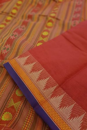 Red kanchi cotton saree1