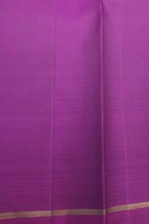 Violet and green half and half kanchipuram silk saree3