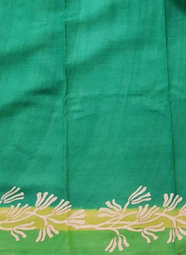 green shaded tussar saree 1