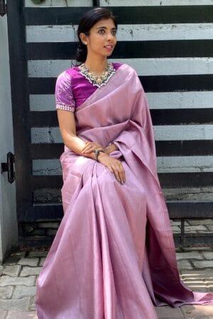 mauve lavanyam kanchi silk saree