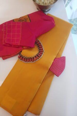 mustard lavanyam kanchi silk saree
