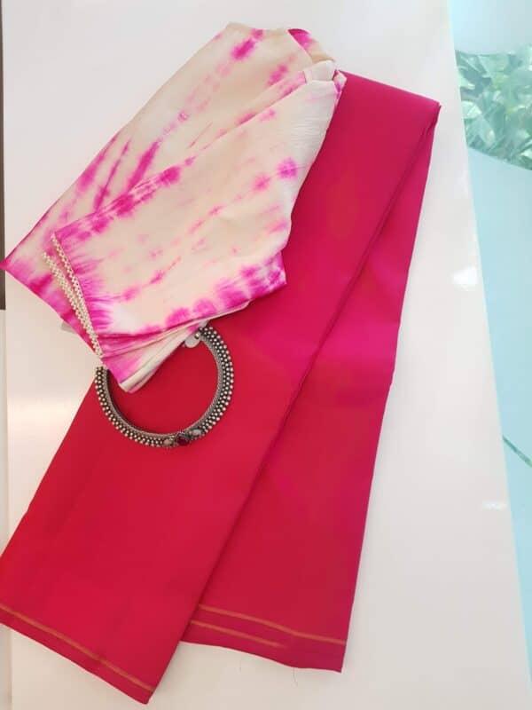 rani pink lavanyam kanchi silk saree