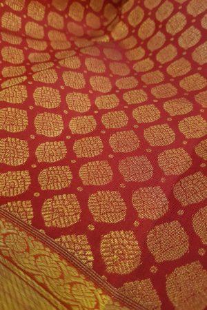 Arakku kanchipuram silk saree with brocade body2