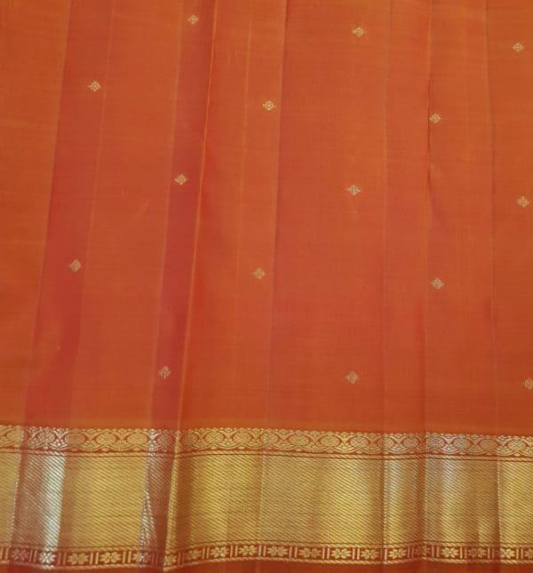 Arakku kanchipuram silk saree with brocade body4