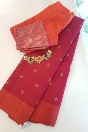 Arakku kanchipuram silk saree with paymadi border