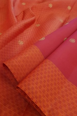 Arakku kanchipuram silk saree with paymadi border1
