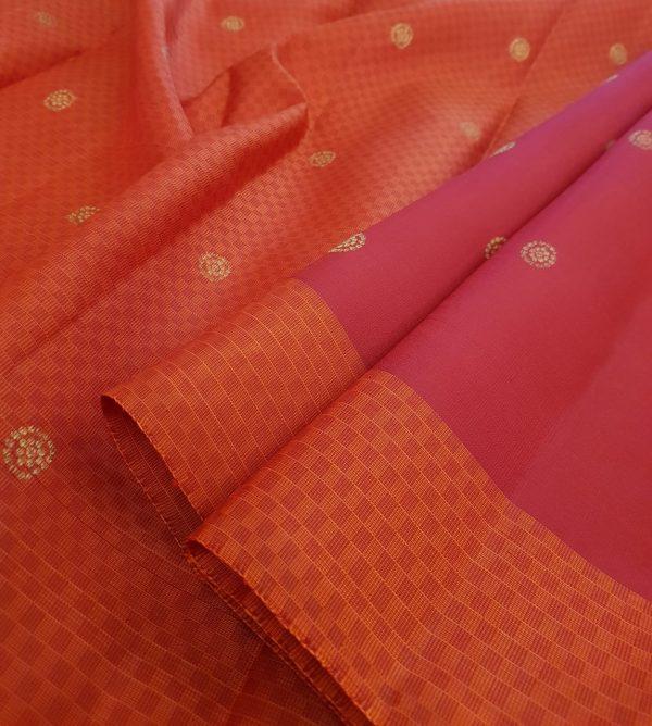 Arakku kanchipuram silk saree with paymadi border1