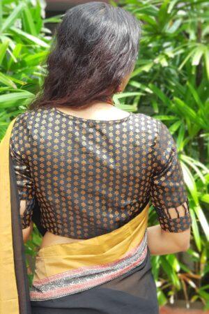 Black benaras blouse1
