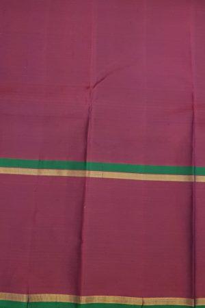 Blue kanchipuram silk saree with majenta border2