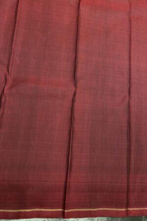 Bottle green and maroon one side border kanchipuram silk saree4