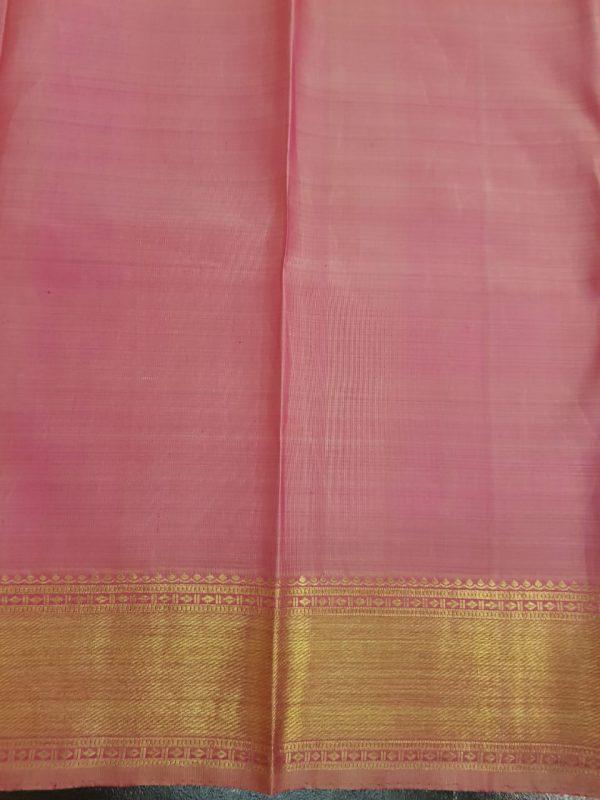 Light pink kanchipuram silk saree with brocade2